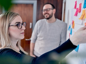 Michelle and Tom in a strategy planning session at the Kind studio