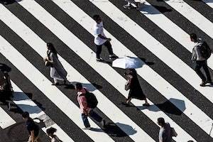 People on crossing