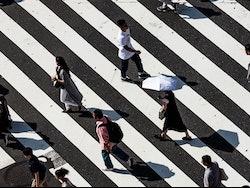 People on crossing